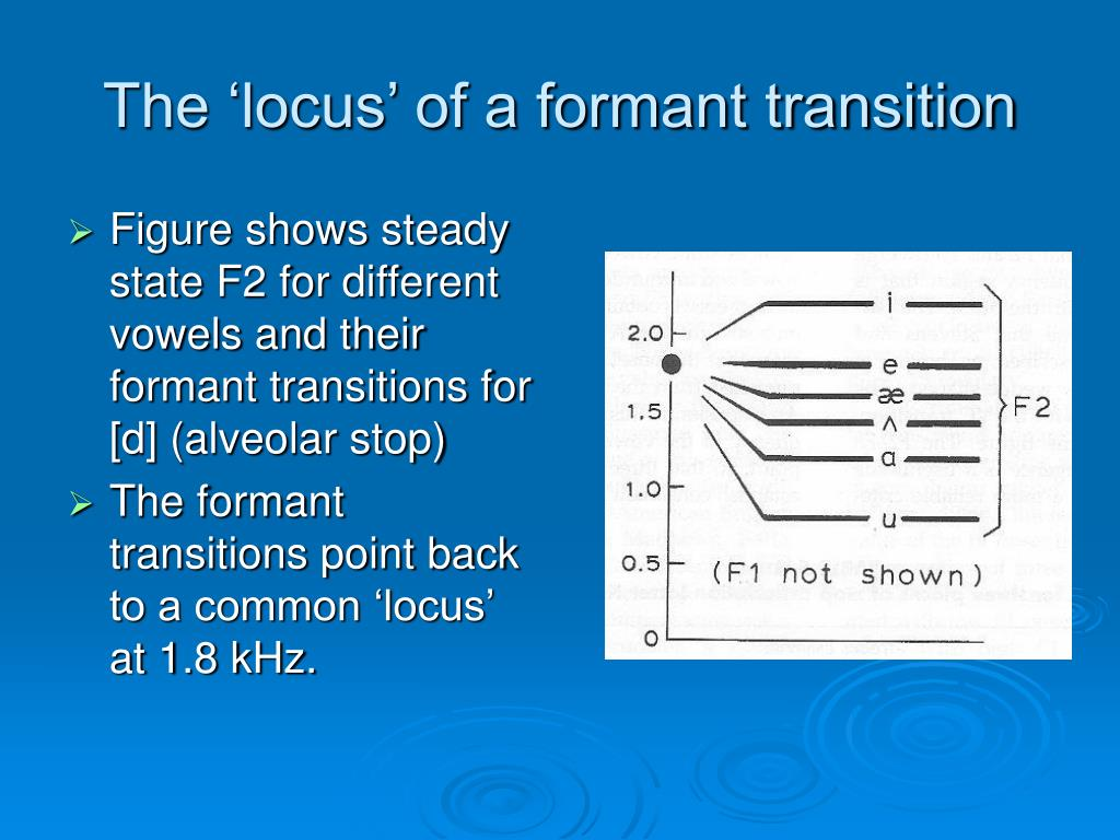 The 'locus' of a formant transition