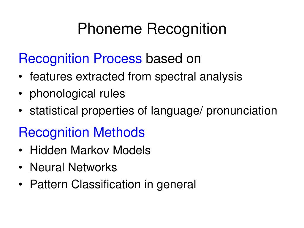 Phoneme Recognition