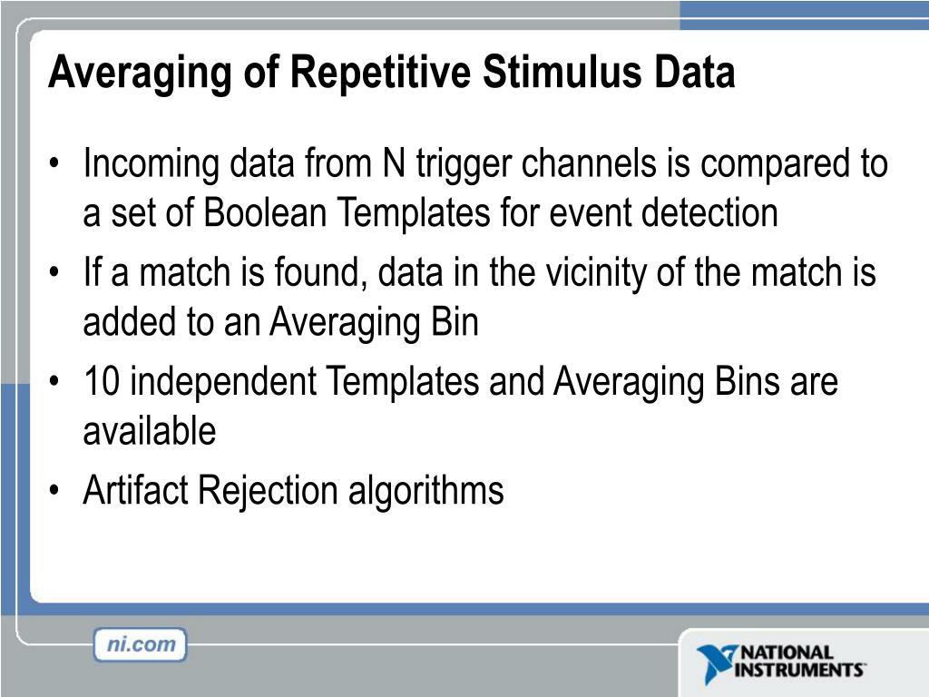 Averaging of Repetitive Stimulus Data