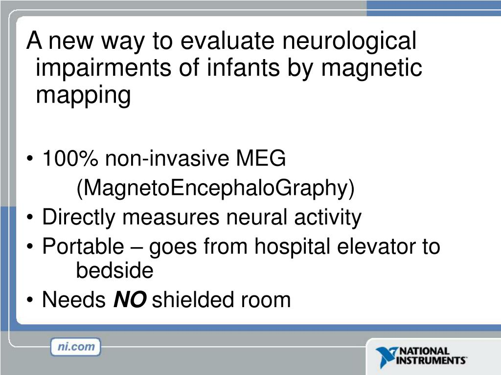 A new way to evaluate neurological impairments of infants