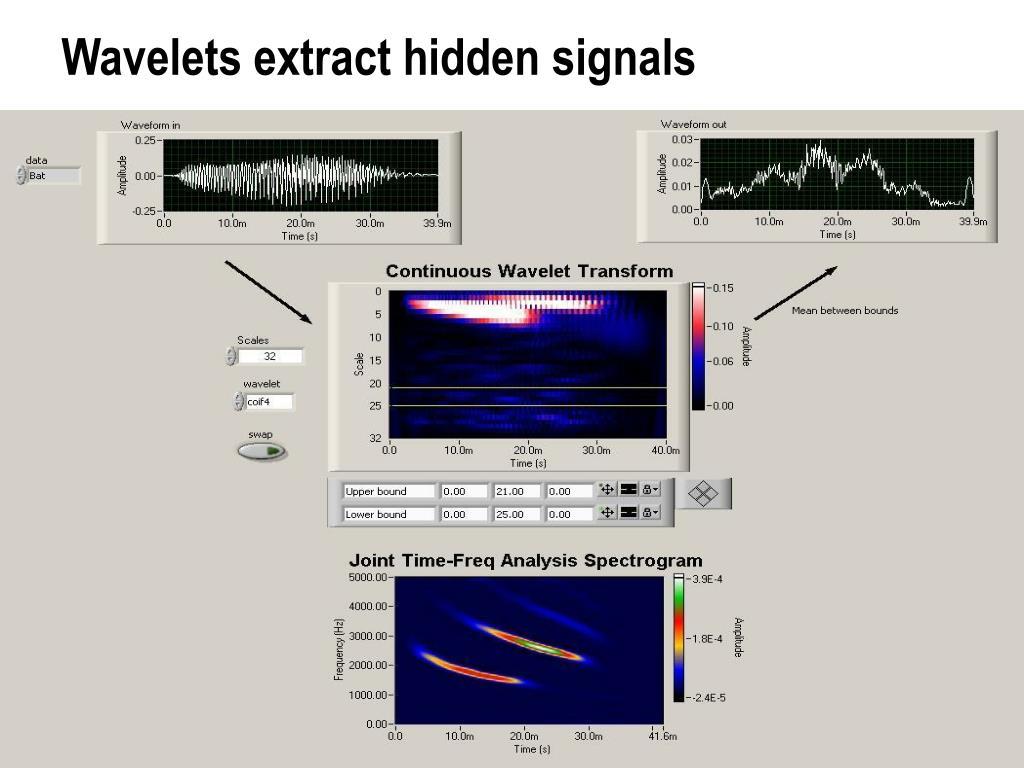 Wavelets extract hidden signals