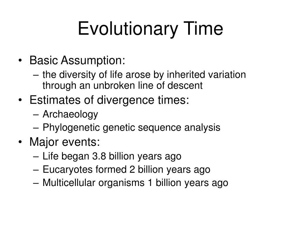 Evolutionary Time