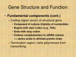 gene structure and function
