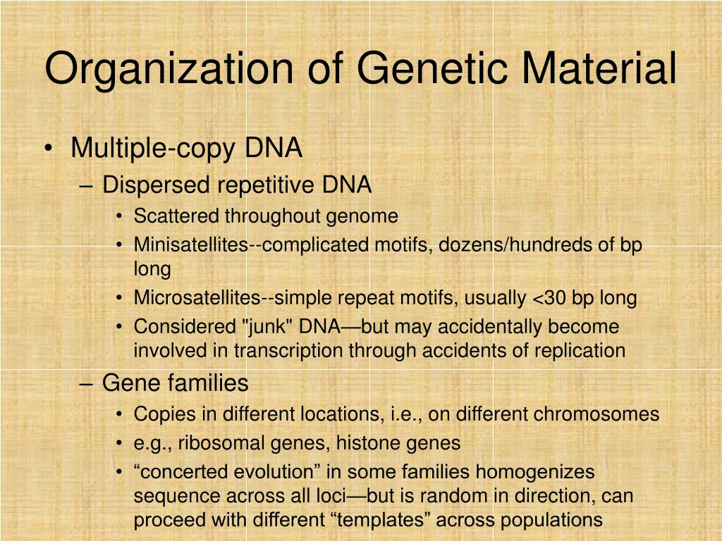 Organization of Genetic Material