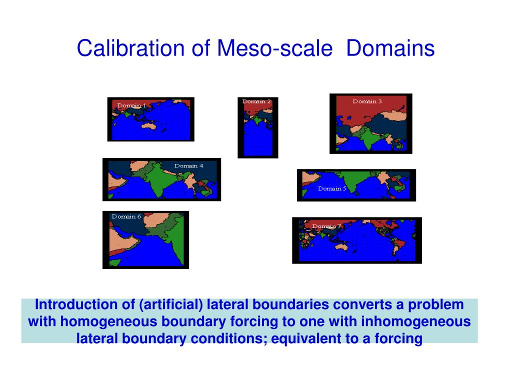 Calibration of Meso-scale  Domains