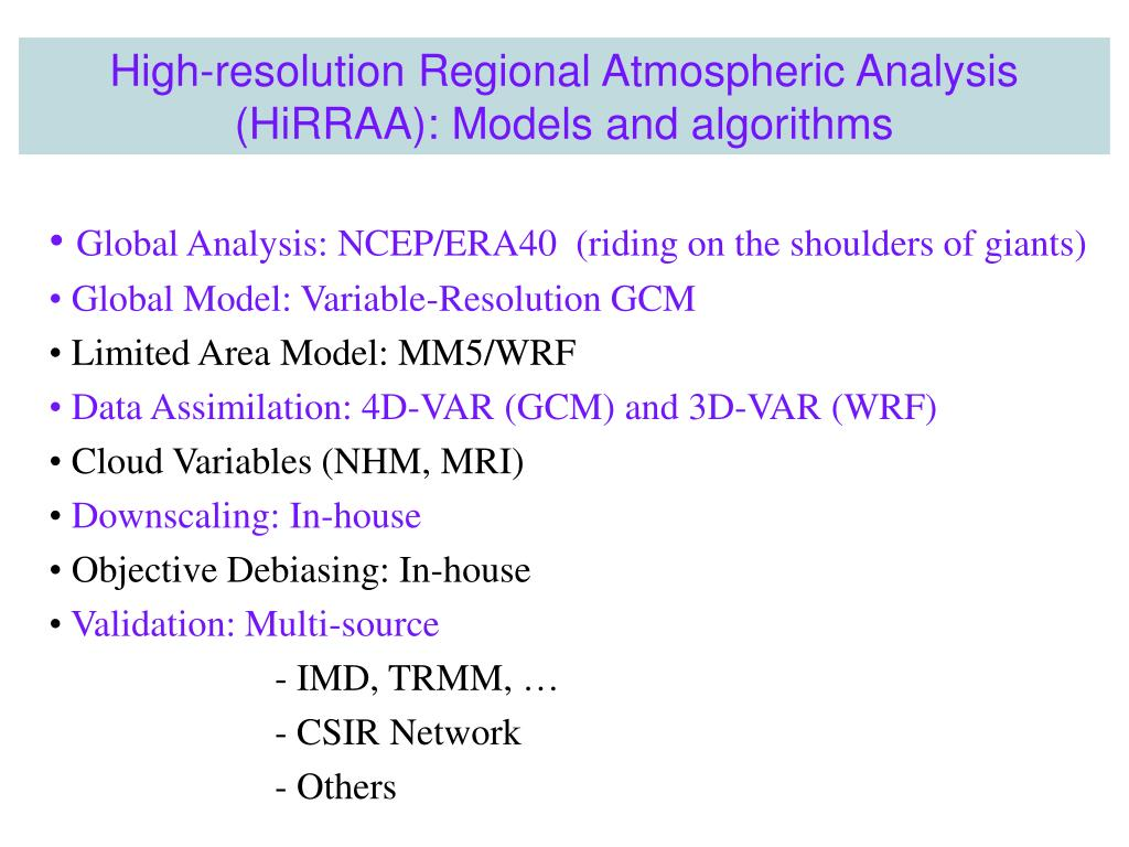 Global Analysis: NCEP/ERA40  (riding on the shoulders of giants)
