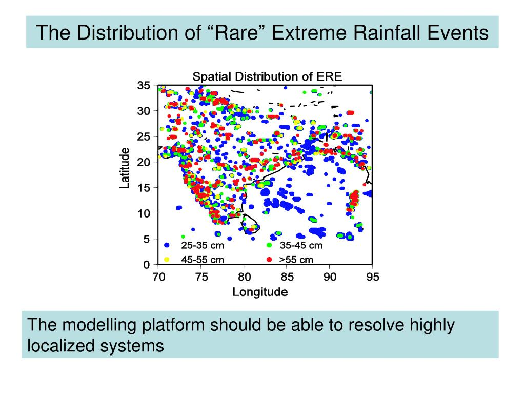 """The Distribution of """"Rare"""" Extreme Rainfall Events"""