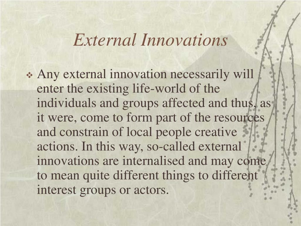 External Innovations