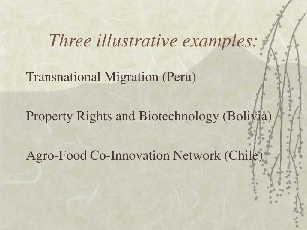 Three illustrative examples:
