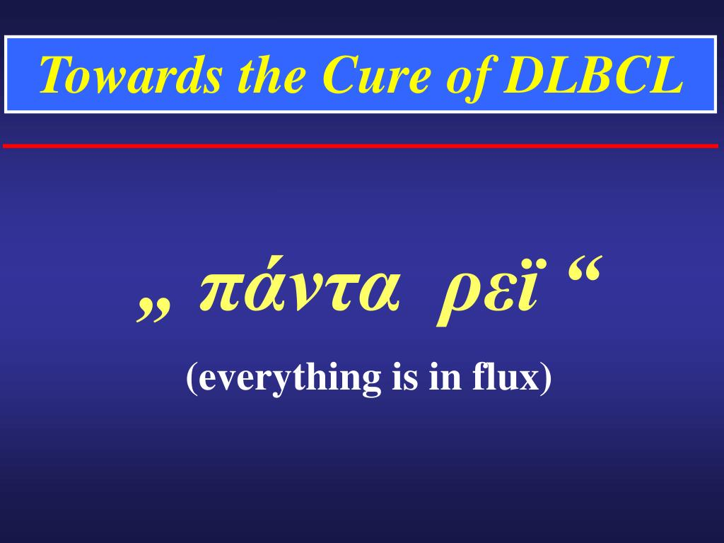 Towards the Cure of DLBCL