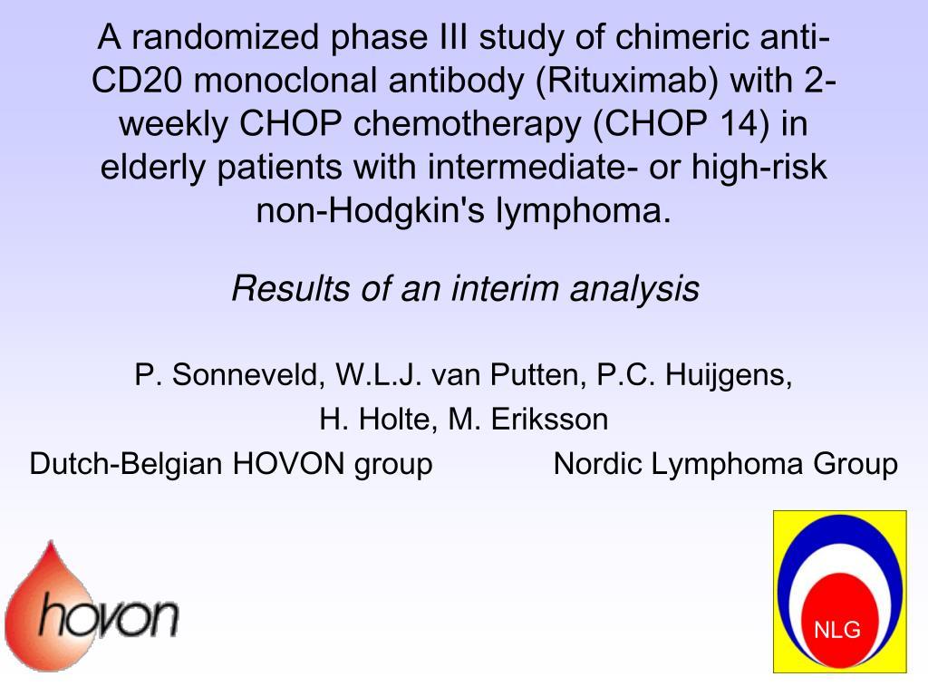 A randomized phase III study of chimeric anti-CD20