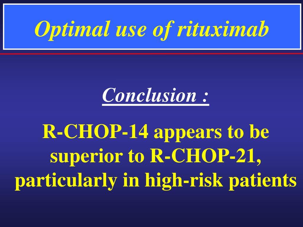 Optimal use of rituximab