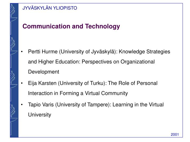 Communication and technology l.jpg