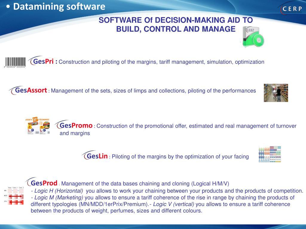 Datamining software