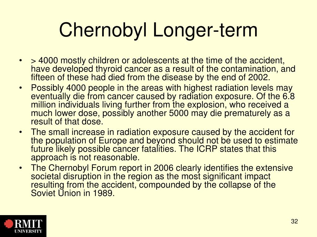 Chernobyl Longer-term