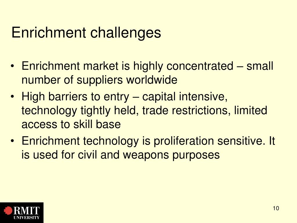 Enrichment challenges