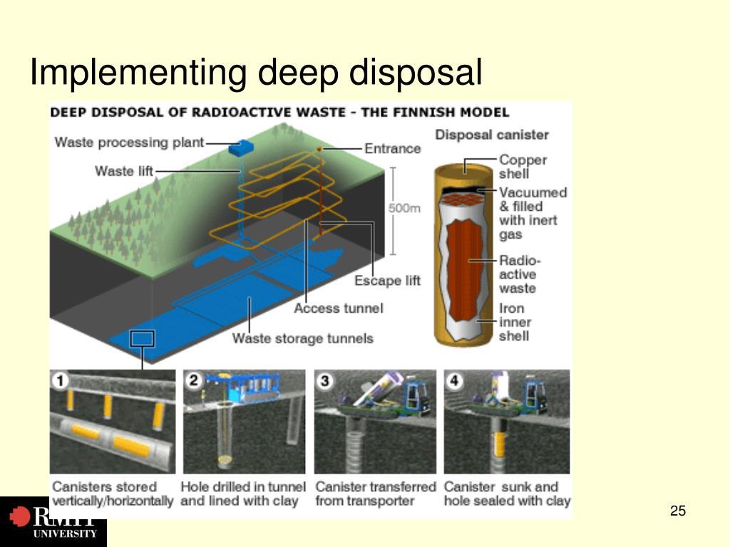 Implementing deep disposal