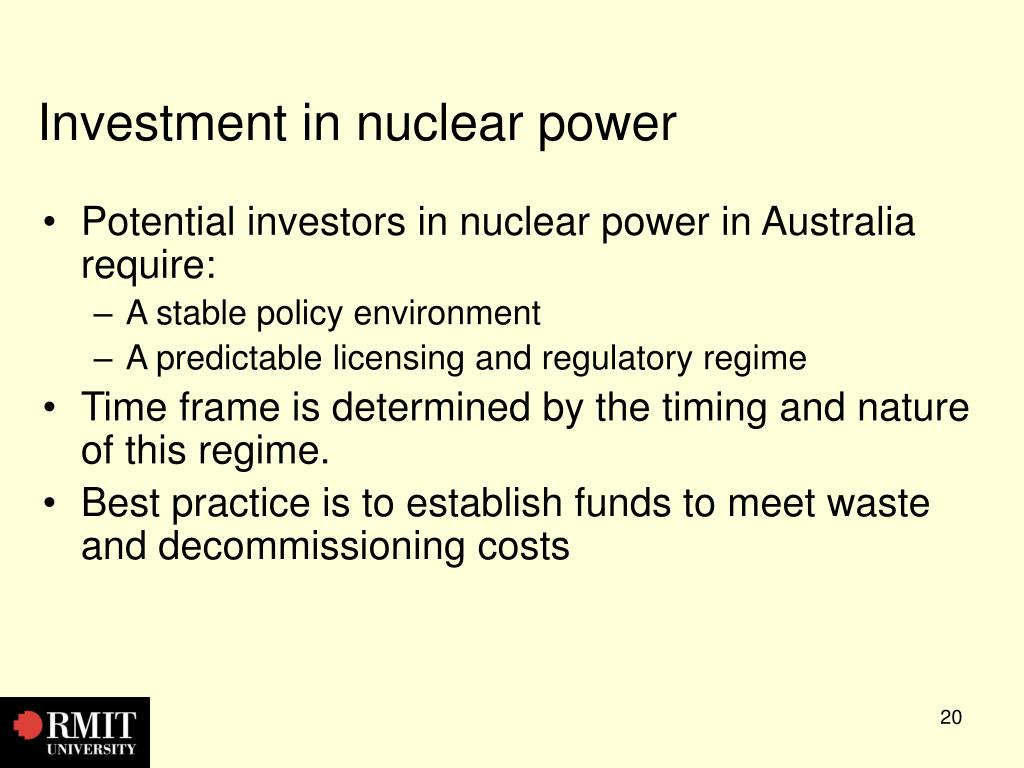 Investment in nuclear power