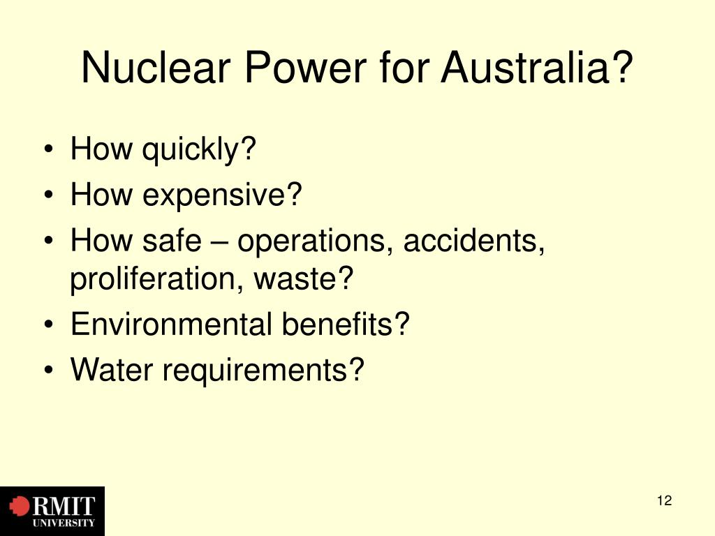 Nuclear Power for Australia?