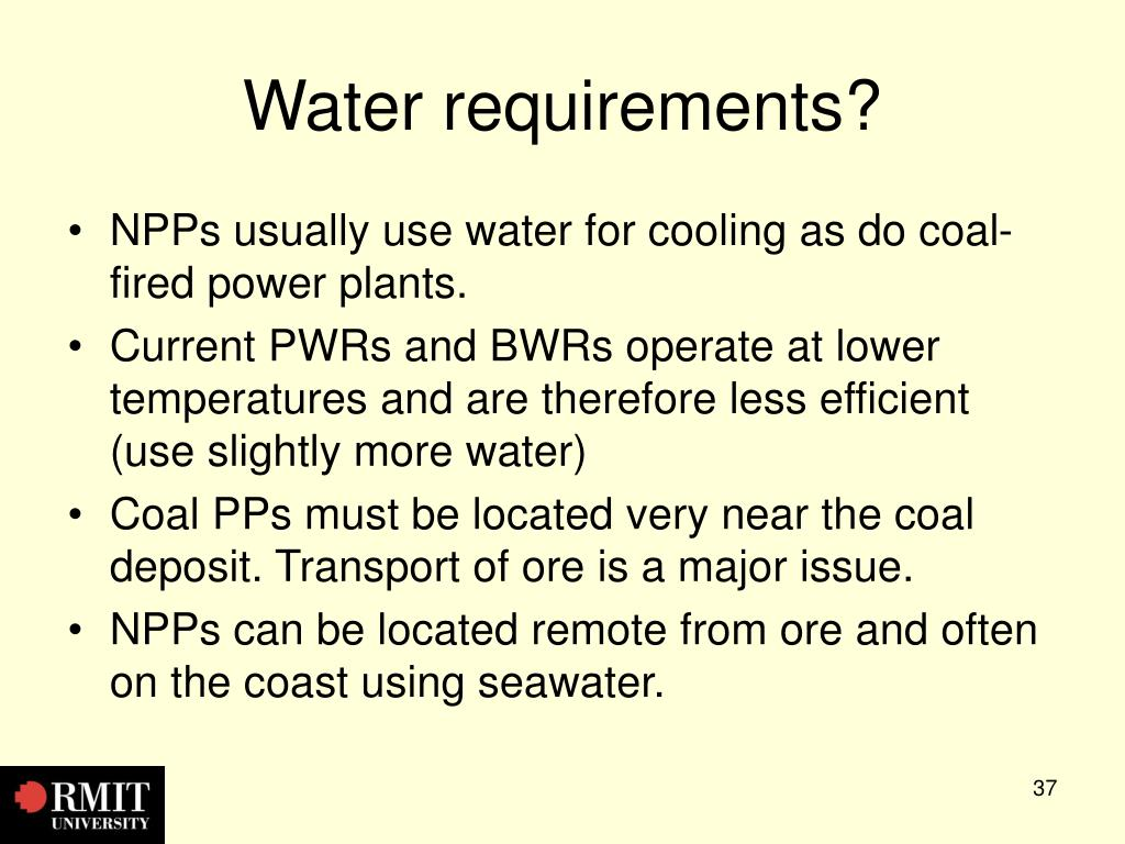 Water requirements?