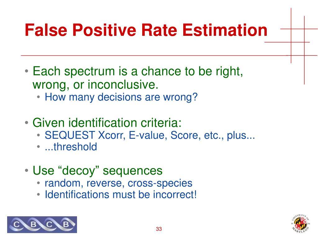 False Positive Rate Estimation