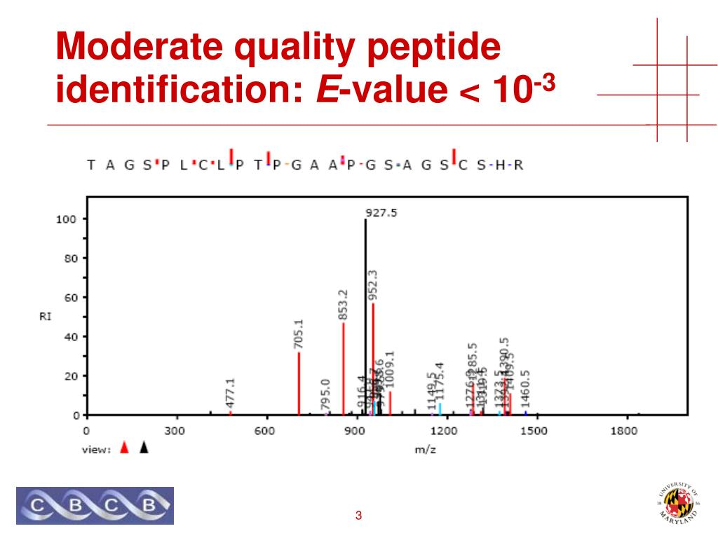 Moderate quality peptide identification:
