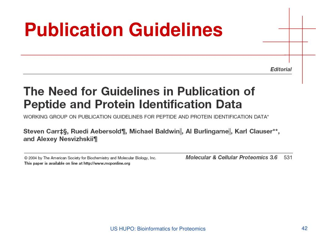 Publication Guidelines