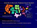 circuits in the u s federal court system