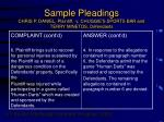 sample pleadings chris p daniel plaintiff v chuggie s sports bar and terry minetos defendants13