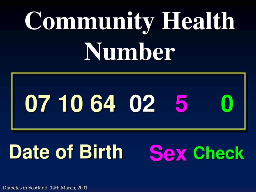 Community Health Number