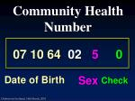community health number12