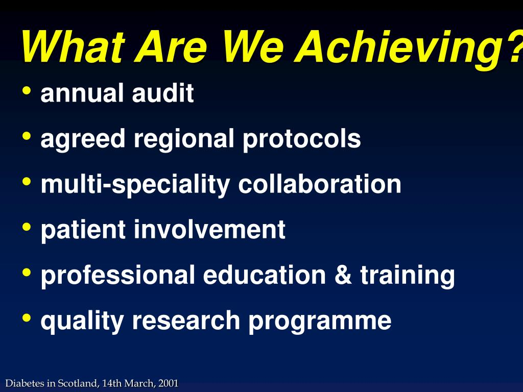 What Are We Achieving?