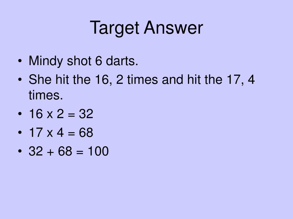 Target Answer