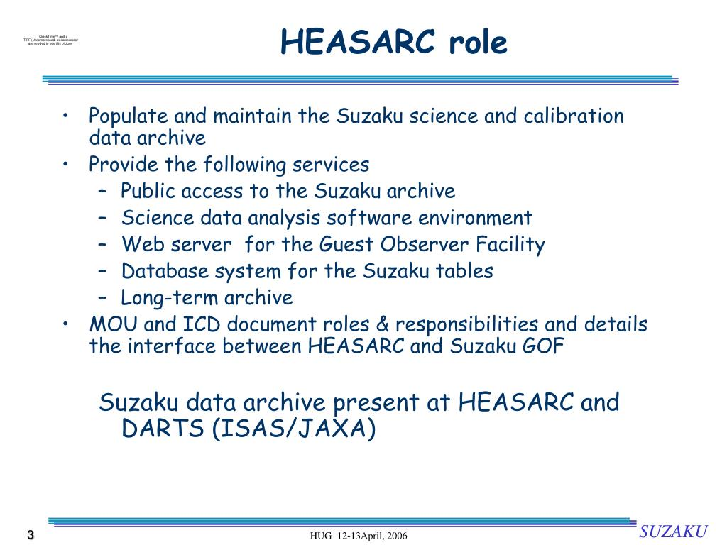 HEASARC role