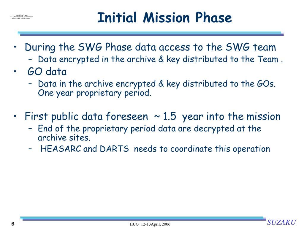 Initial Mission Phase