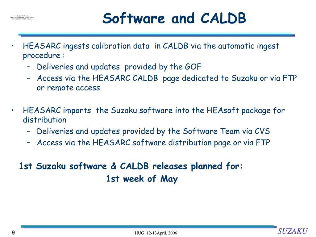 Software and CALDB