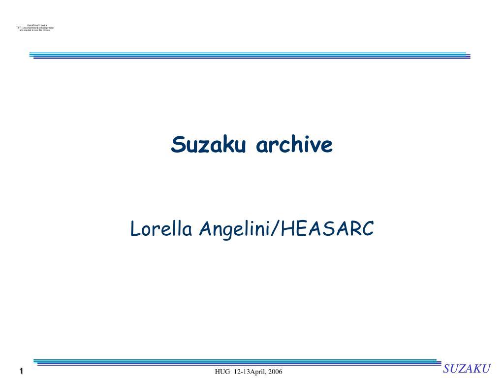 Suzaku archive