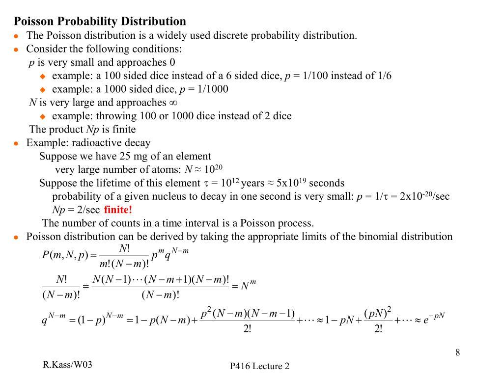 Poisson Probability Distribution