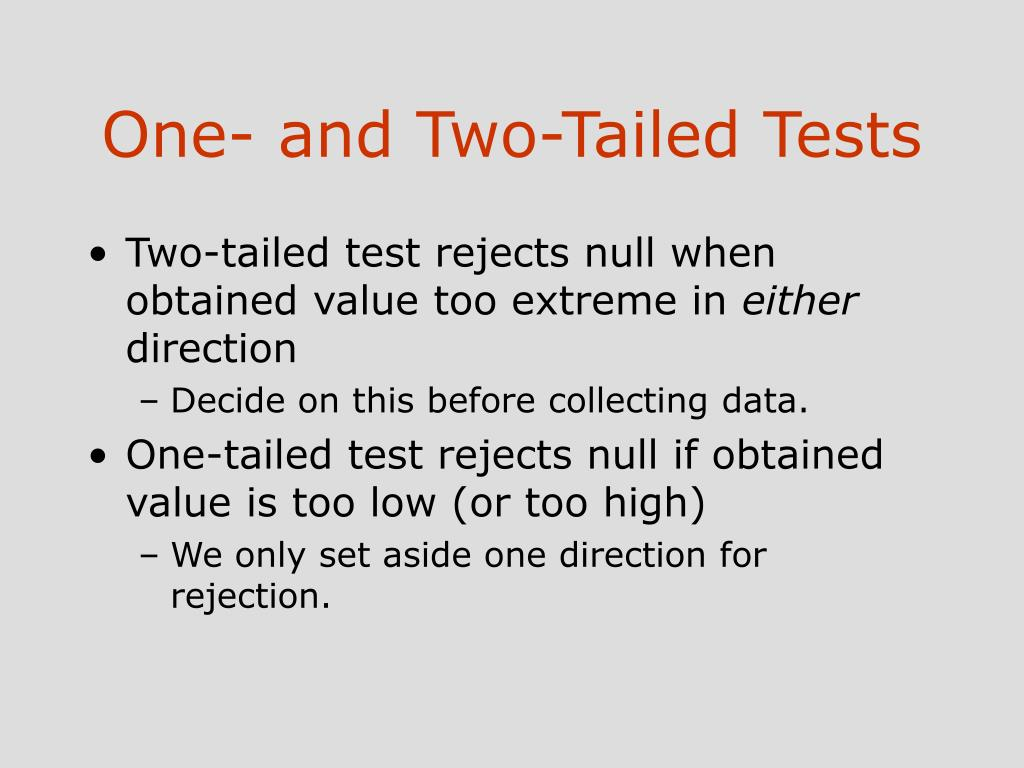 One- and Two-Tailed Tests