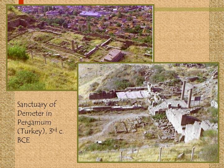 Sanctuary of Demeter in Pergamum (Turkey), 3