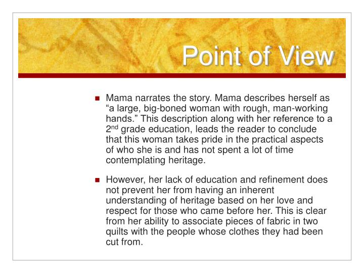 alice walker s everyday use feminist point of view Everyday use alice walker essay - stop receiving bad marks with these custom essay advice quality and affordable paper to make easier your education get main recommendations as to how to receive the greatest dissertation ever.