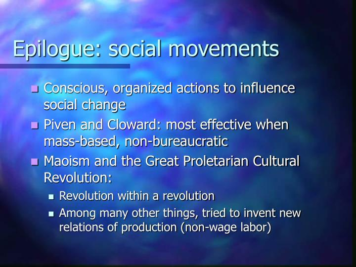 Epilogue: social movements
