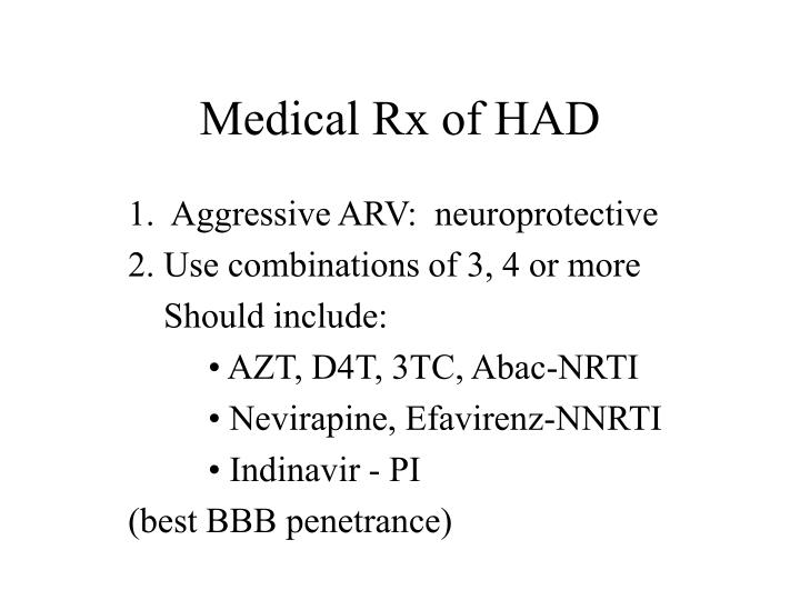 Medical Rx of HAD