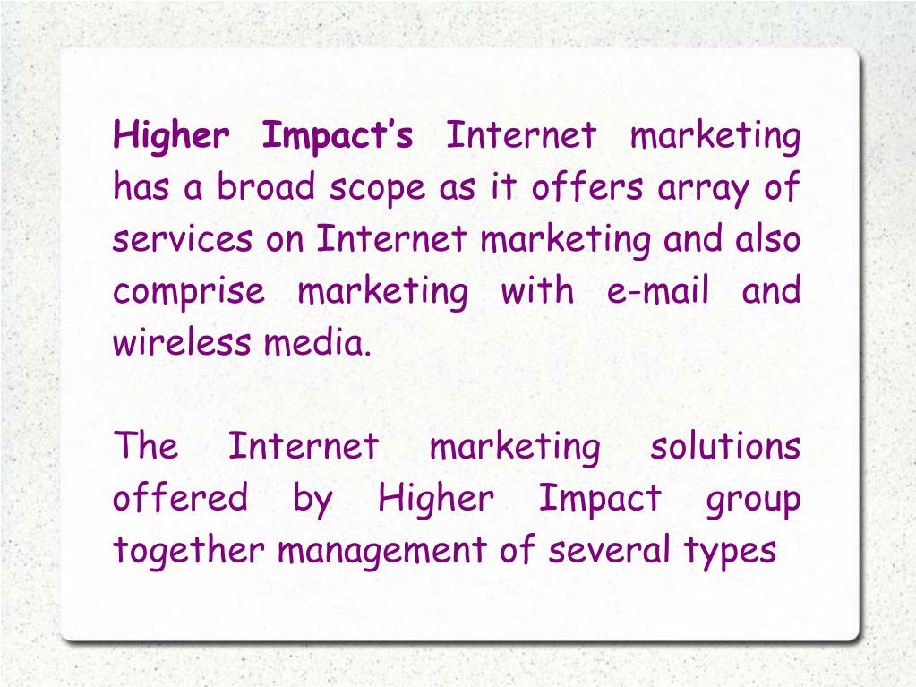 Higher Impact's