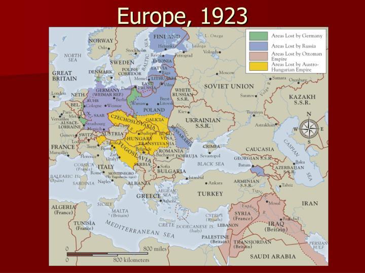 Europe, 1923
