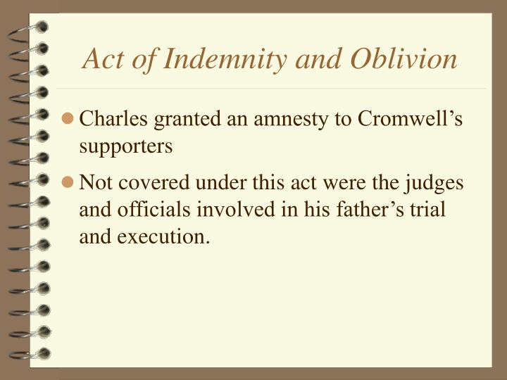 Act of Indemnity and Oblivion