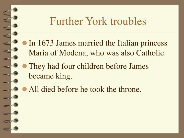 Further York troubles