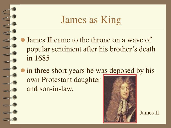 James as King