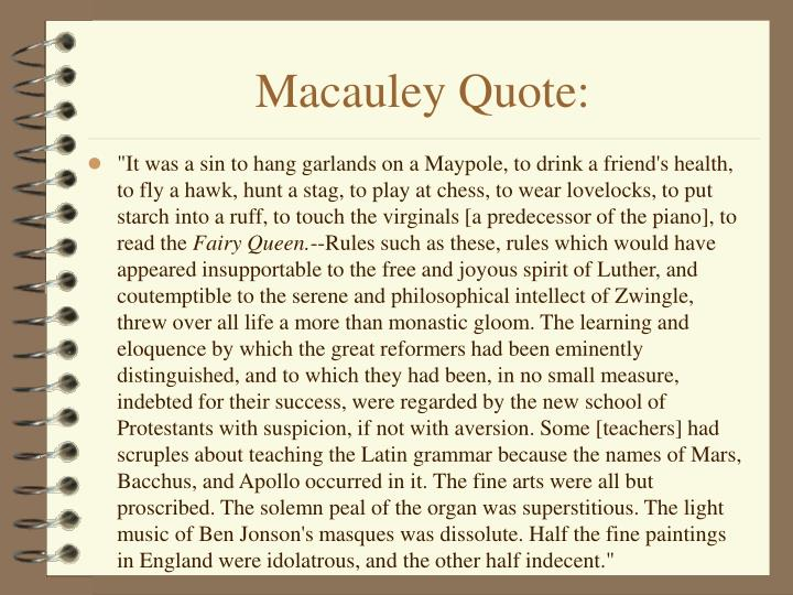 Macauley Quote: