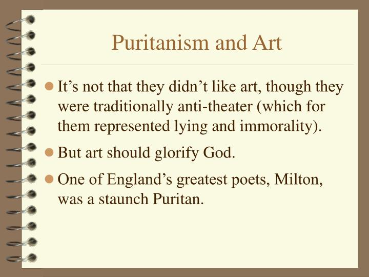 Puritanism and Art
